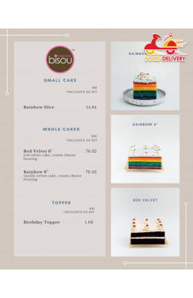 [FOOD DELIVERY] WHOLE CAKE - 3 DAY PRE-ORDER